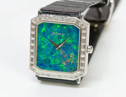 DeLaneau Opal 18K Gold Diamond Watch1