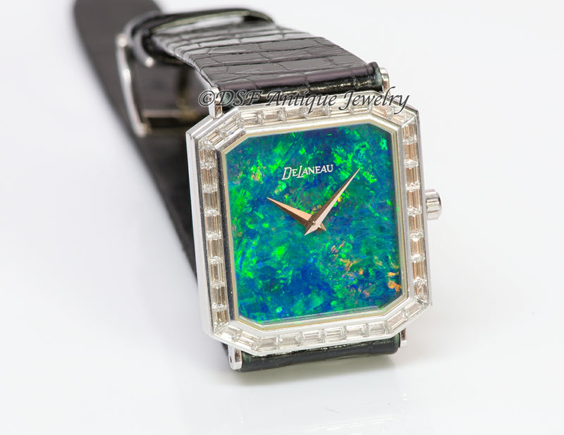 DeLaneau Black Opal 18K Gold Diamond Watch2