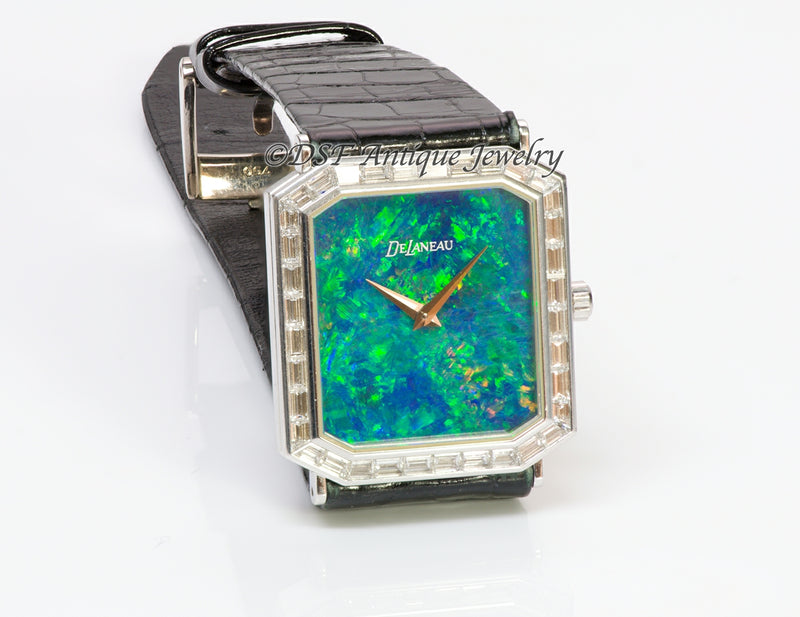 DeLaneau Opal 18K Gold Diamond Watch3