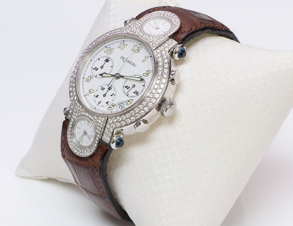 Delaneau 18K Gold Diamond Watch