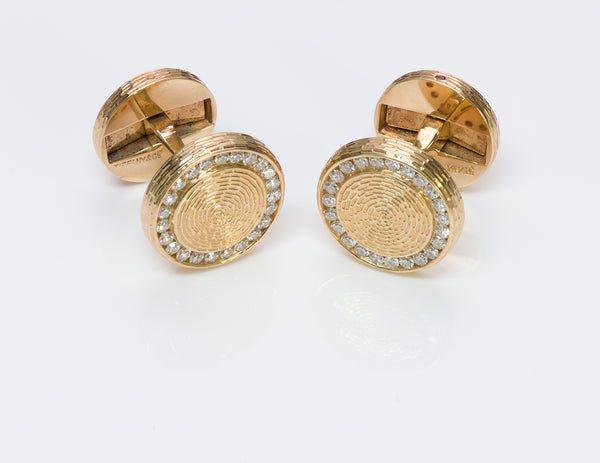 Tiffany Co. Diamond Cufflinks
