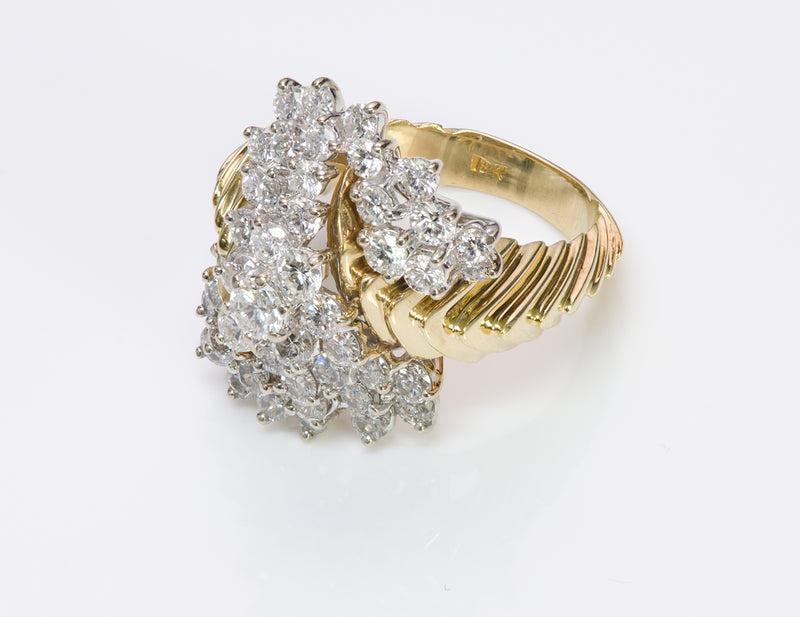 Vintage Diamond 18K Gold Ring