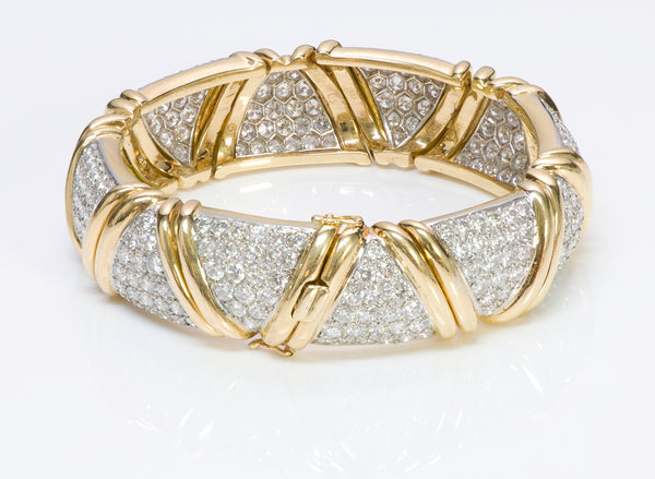 Vintage Diamond 18K Gold Bracelet