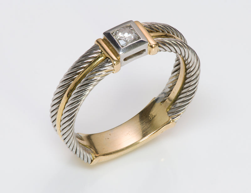 Solano Diamond Platinum 18k Gold Ring