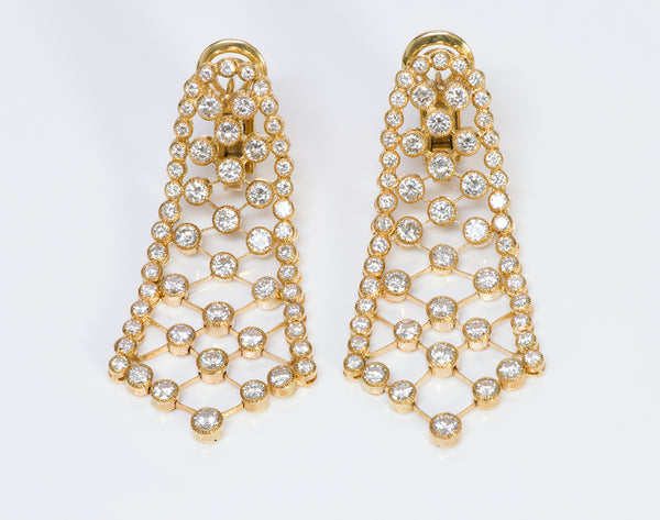 Diamond Gold Flexible Earrings