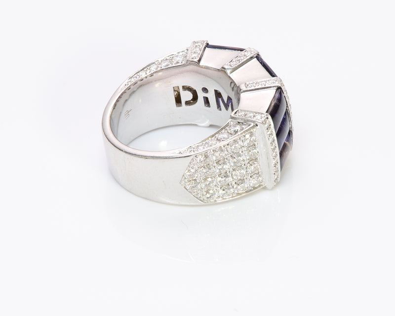 Di Modolo 18K Gold Iolite Diamond Ring 2