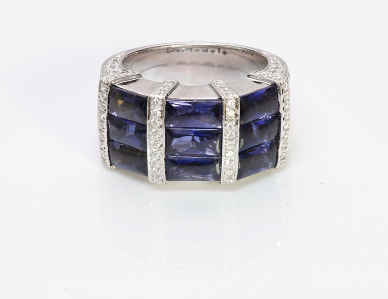Di Modolo 18K Gold Iolite Diamond Ring