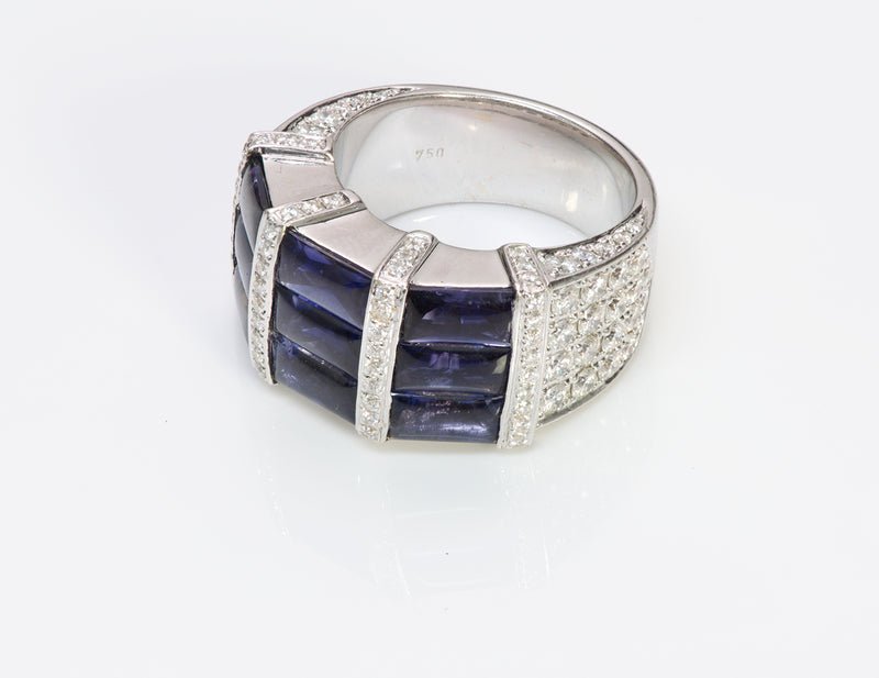 Di Modolo Gold Diamond Iolite Ring