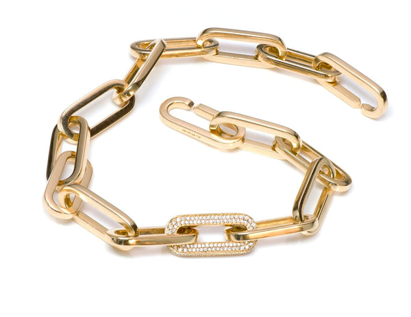 Dinh Van Gold & Diamond Link Necklace
