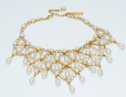 Dolce & Gabbana Crystal Pearl Necklace