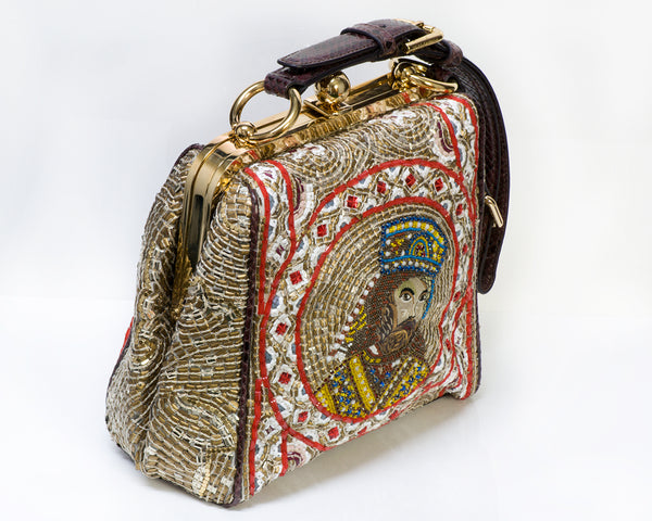 Dolce Gabbana Agata Mosaic King Beaded Bag