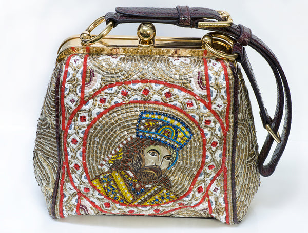 Dolce Gabbana 2013 Agata Mosaic King Beaded Bag