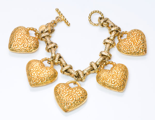 Dominique Aurientis Paris Heart Charm Bracelet