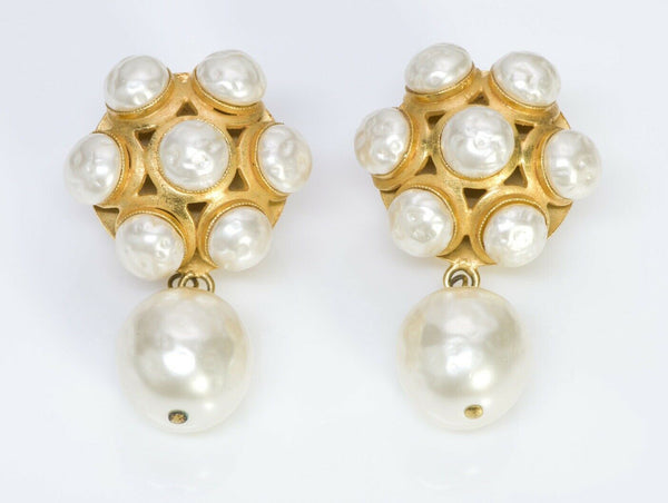 Dominique Aurientis Paris Byzantine Style Pearl Earrings