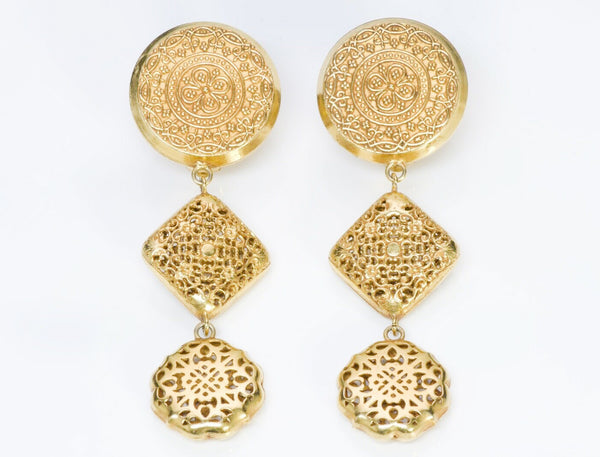 Dominique Aurientis Paris Etruscan Style Long Earrings
