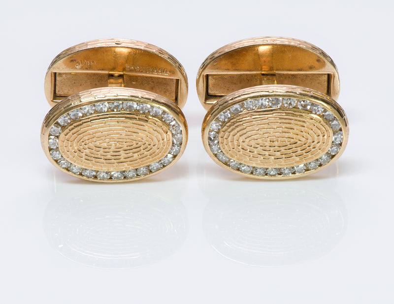 Tiffany & Co. Diamond Gold Cufflinks Vintage