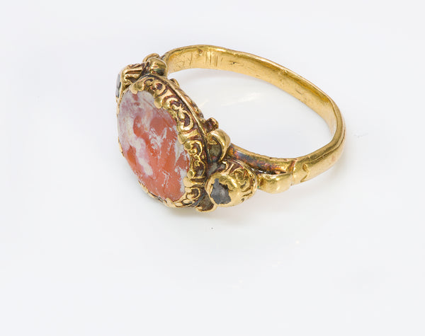 Ancient Intaglio Gold & Diamond Ring