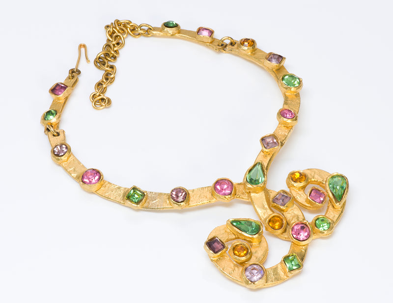 Edouard Rambaud Paris Gold Tone Crystal Necklace