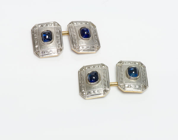 Antique Edwardian Platinum & Gold Cufflinks