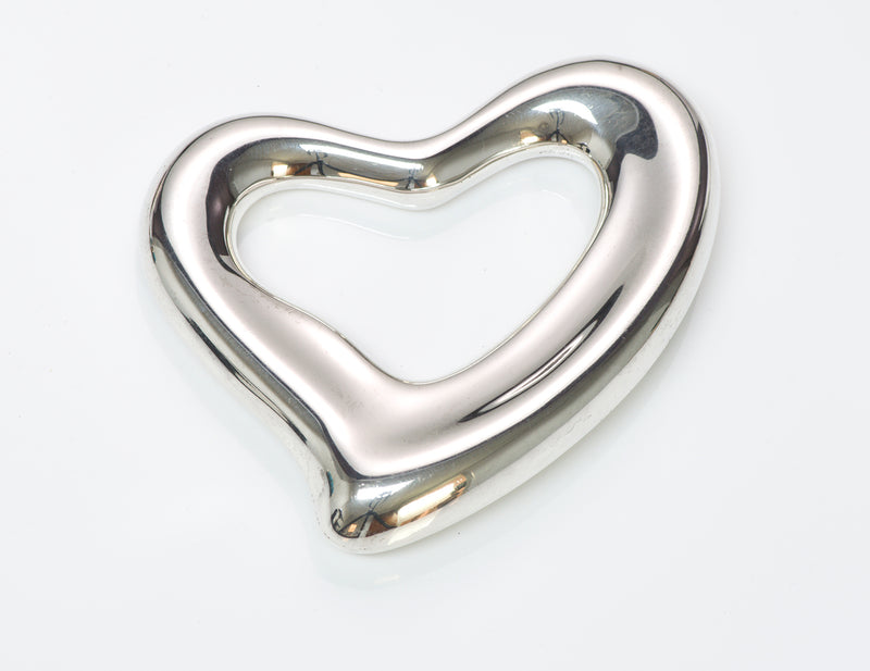 Elsa Peretti Open Heart Sterling Belt Buckle