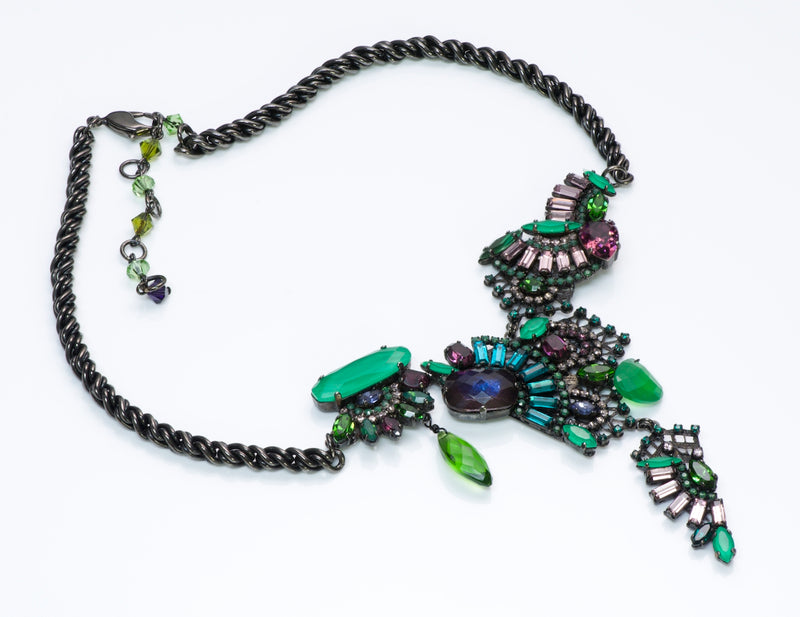 Erickson Beamon Green Crystal Necklace