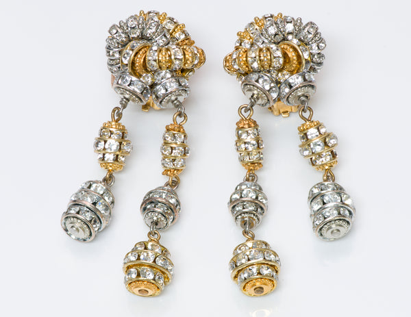 Vintage Francoise Montague 1950's Crystal Earrings