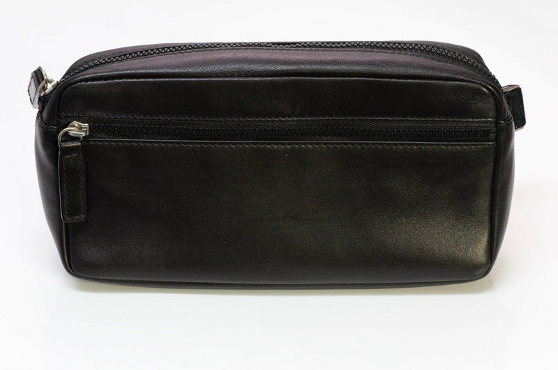 FENDI Black Leather Logo Fanny Pack Waist Bag 2
