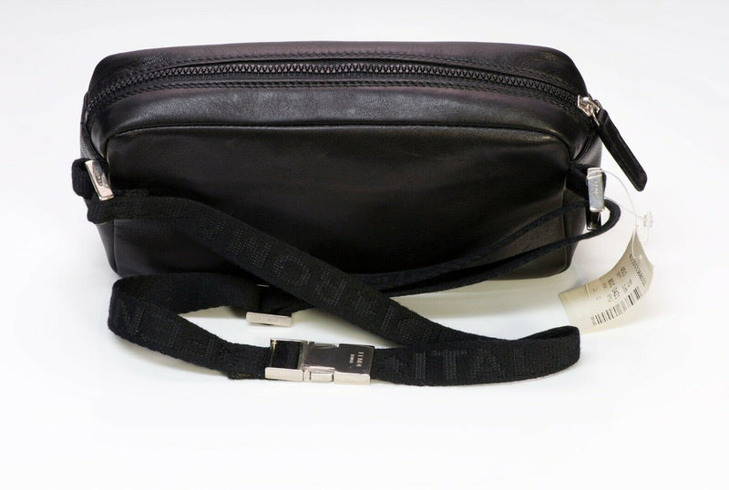 FENDI Black Leather Logo Fanny Pack Waist Bag 4