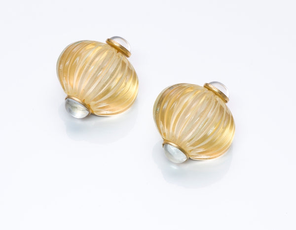 Fabrice Paris Carved Lucite Earrings