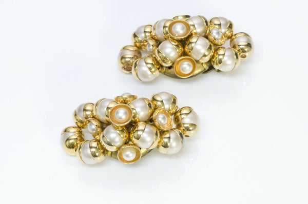 Francoise Montague Paris 1950 Pearl Earrings