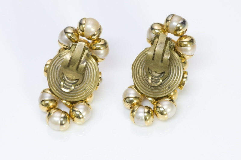 Francoise Montague Paris 1950's Pearl Earrings 1