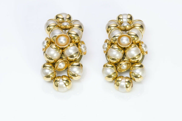 Francoise Montague Paris 1950's Pearl Earrings