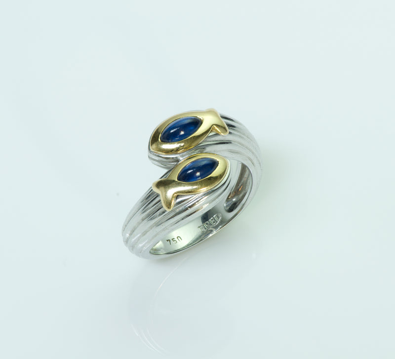 Fred Paris Gold Sapphire Ring