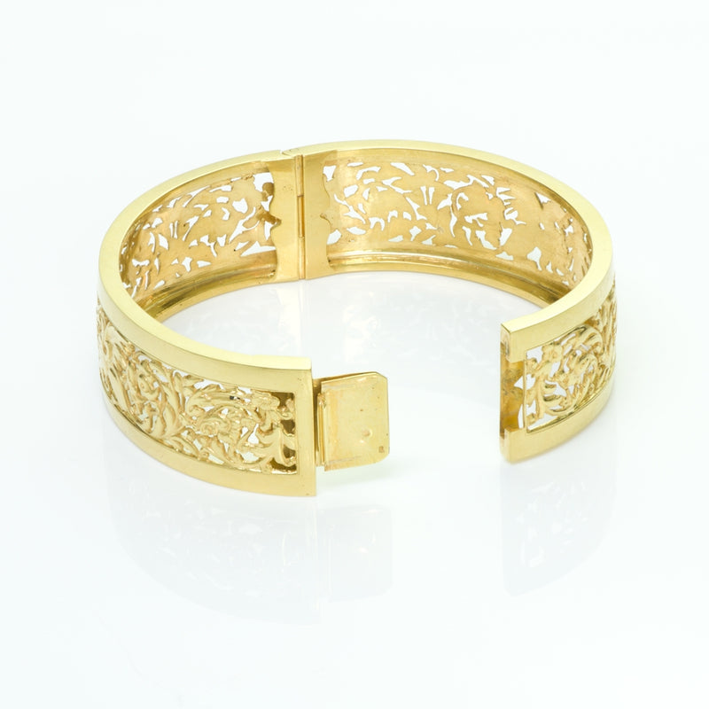 Antique French Gold Griffin Bangle