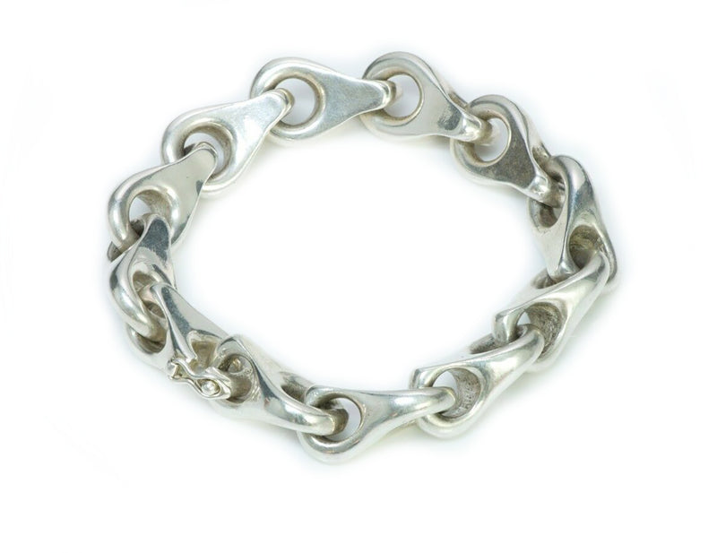 French Silver Link Chain Bracelet