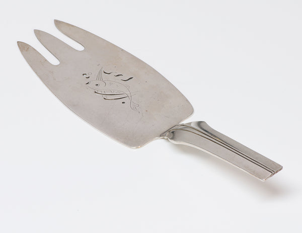 Georg Jensen Sterling Fish Server Elsinore Agave