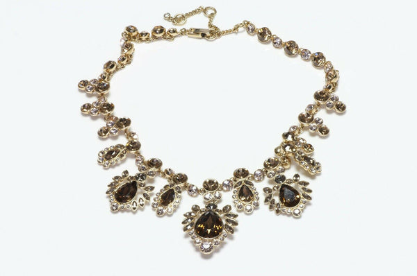 GIVENCHY Paris Brown Crystal Necklace
