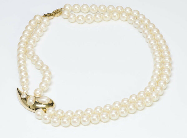 Givenchy 1977 Multi Strand Pearl Necklace