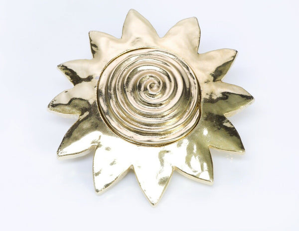 GIVENCHY Paris Gold Plated Sun Brooch 2