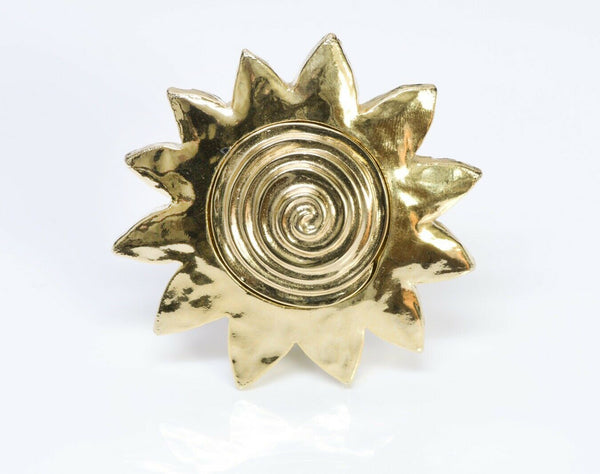 GIVENCHY Paris Gold Plated Sun Brooch