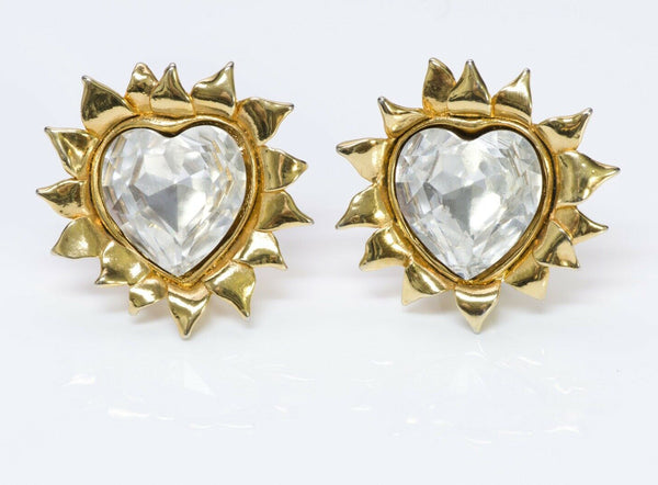 GIVENCHY Sunflower Heart Crystal Earrings