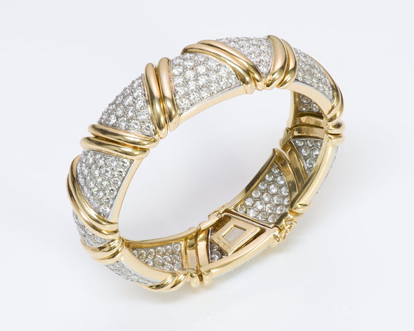 Diamond 18K Gold Platinum Bracelet 2