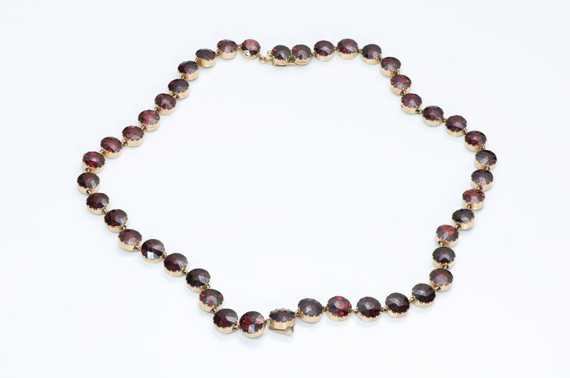 Victorian Gold Garnet Necklace