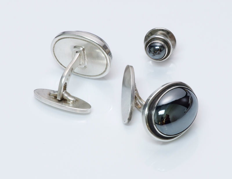 Georg Jensen Cufflinks & Tie Pin 44