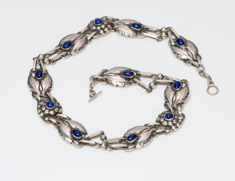 Georg Jensen 830 Silver Lapis Necklace No. 1