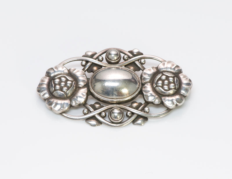 Georg Jensen Silver Brooch No. 89
