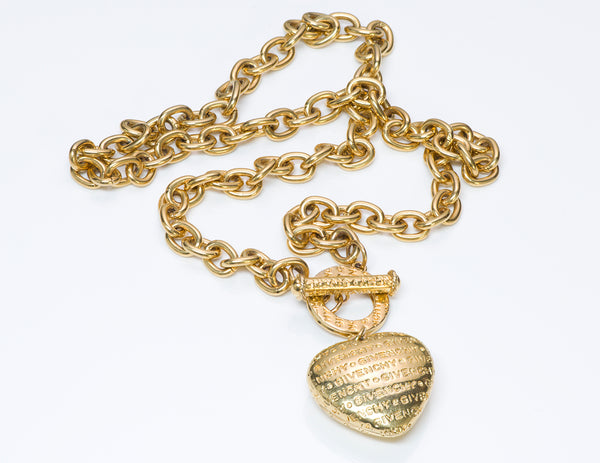 Givenchy Monogram Heart Chain Necklace