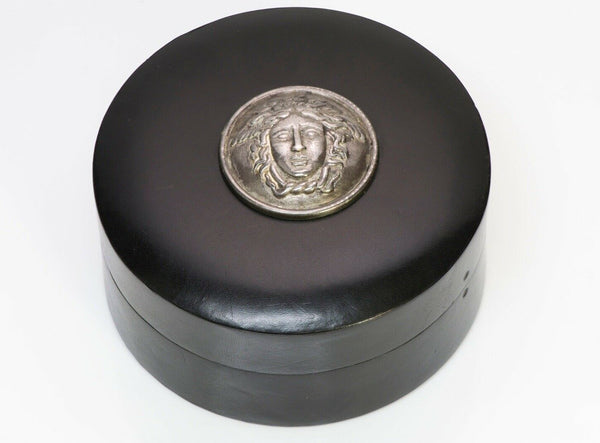 Gianni Versace Leather S Silver Medusa Jewelry Box Case