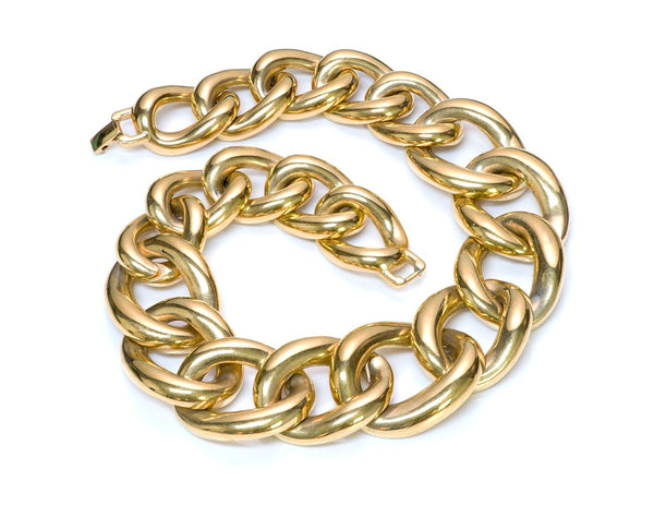 Givenchy Gold Tone Chain Link Necklace