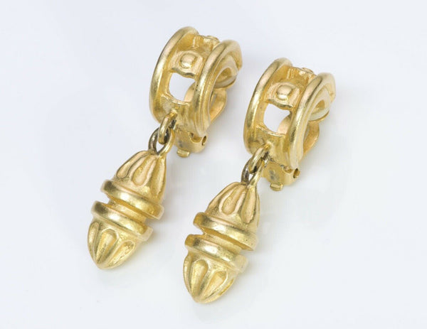 Givenchy Gold Tone Drop Earrings